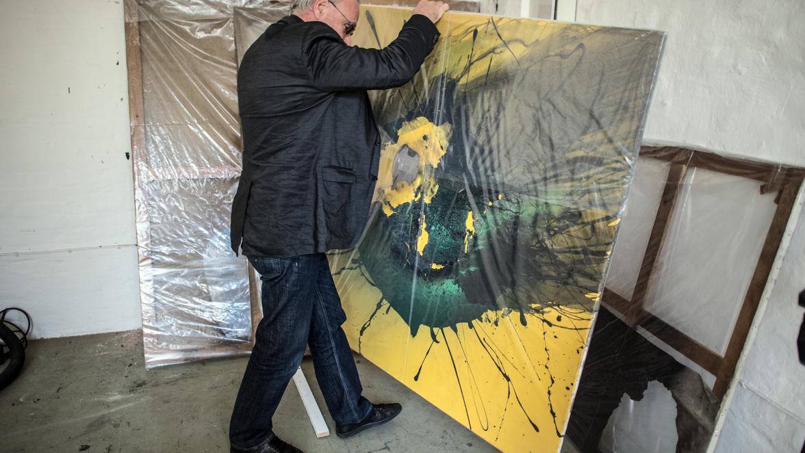 Kunst Farbkleckse Von Christo Und Rauschenberg Zero