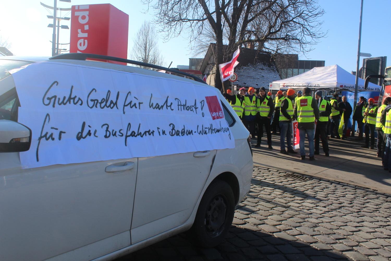 Reutlingen Warnstreik Der Busfahrer In Reutlingen Gutes Geld Für