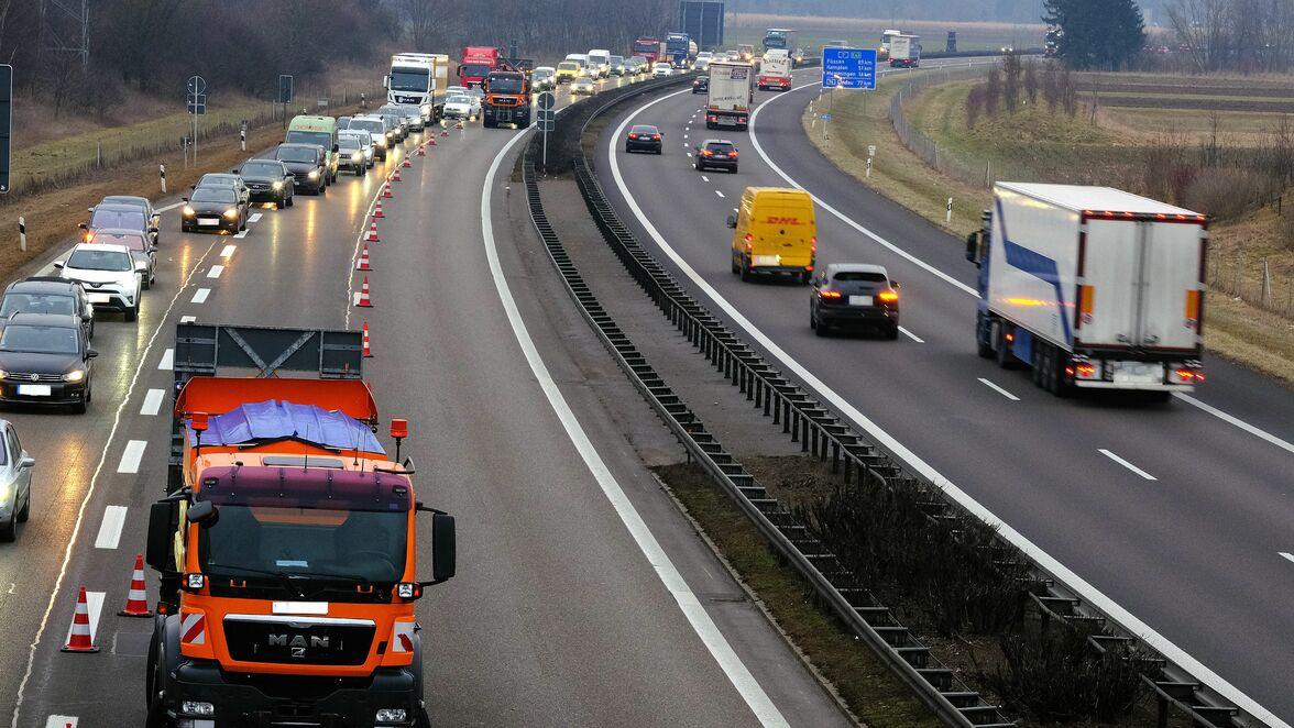 Verkehr A7 Ulm