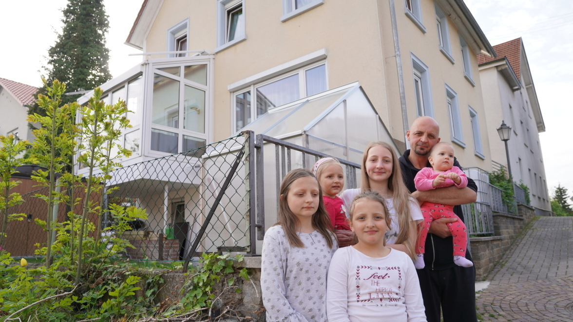 Familie Schlaganfall Papa Tochter