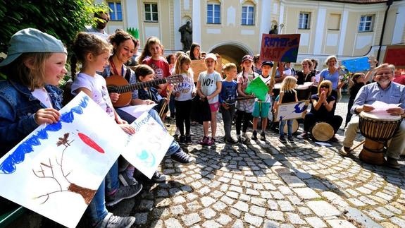 Freitagsdemonstration in Roggenburg: Parents for Future