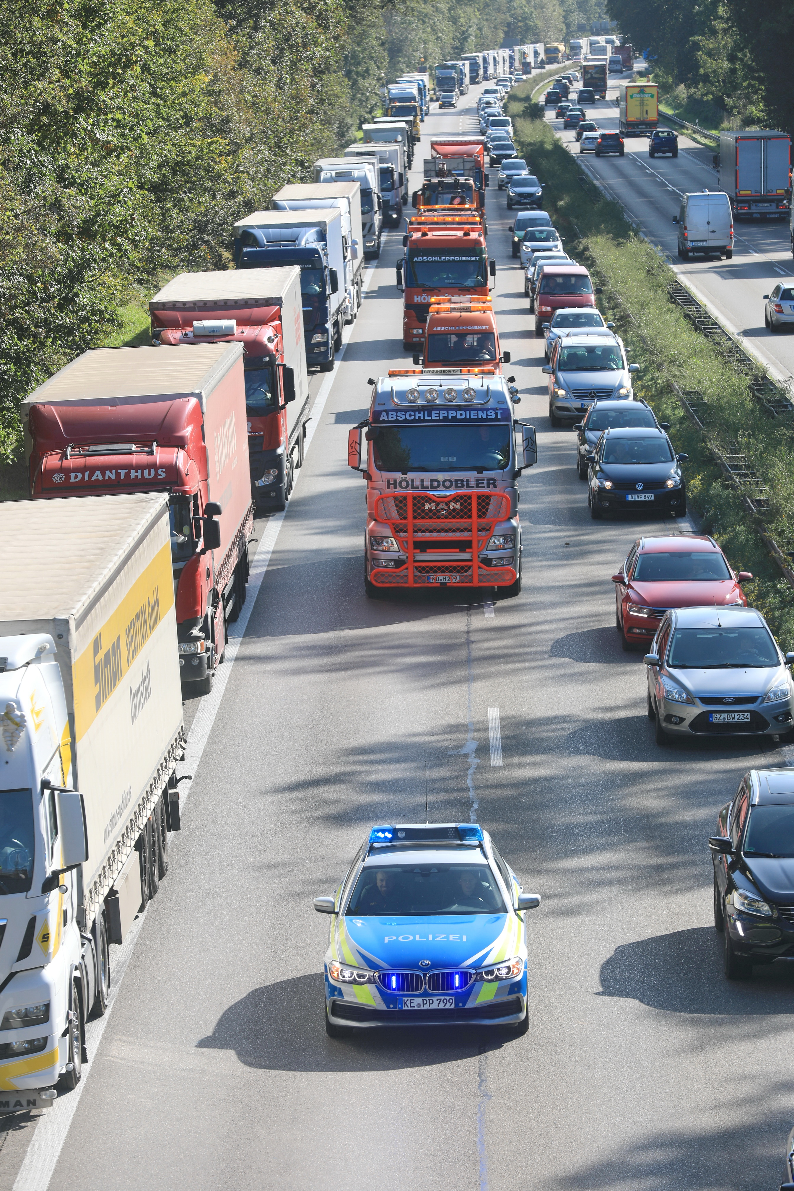 Autobahn A8 Unfall