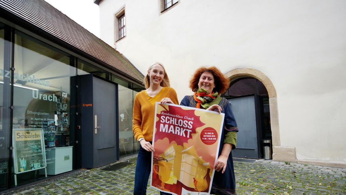 Schlossmarkt in Bad Urach: Im Schloss Bad Urach dem Grafen