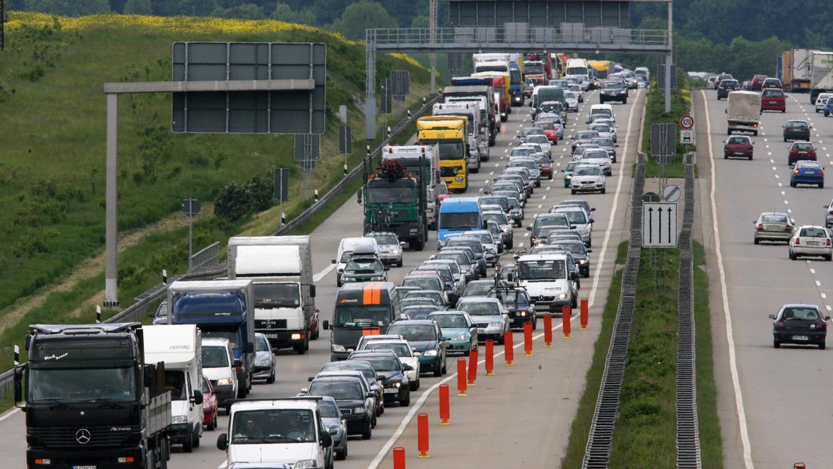 A8 Stau Richtung Stuttgart