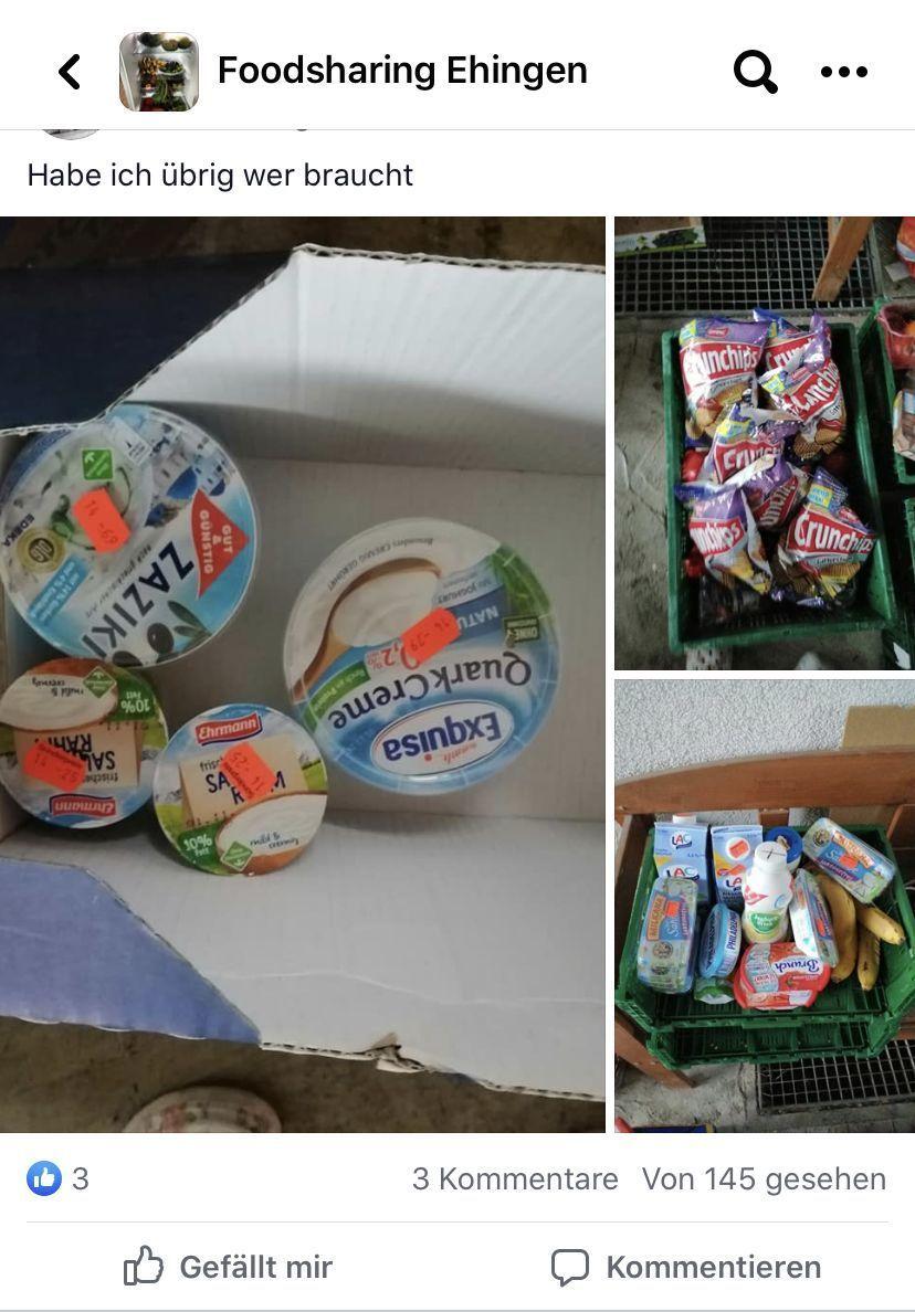 Internet: Auf Facebook gibt es jetzt eine Foodsharing-Gruppe für Ehingen - SWP