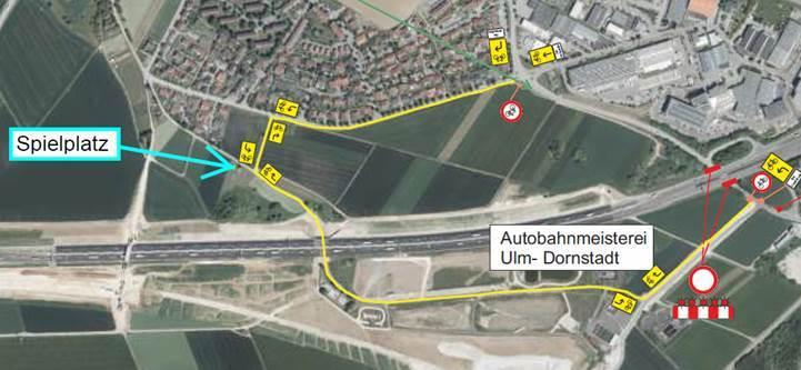 Baustelle A8 Ulm-Nord: Vollsperrung zwischen Dornstadt und Ulm-Lehr - SWP