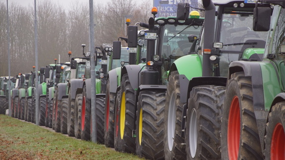 Landwirte protestieren in Memmingen