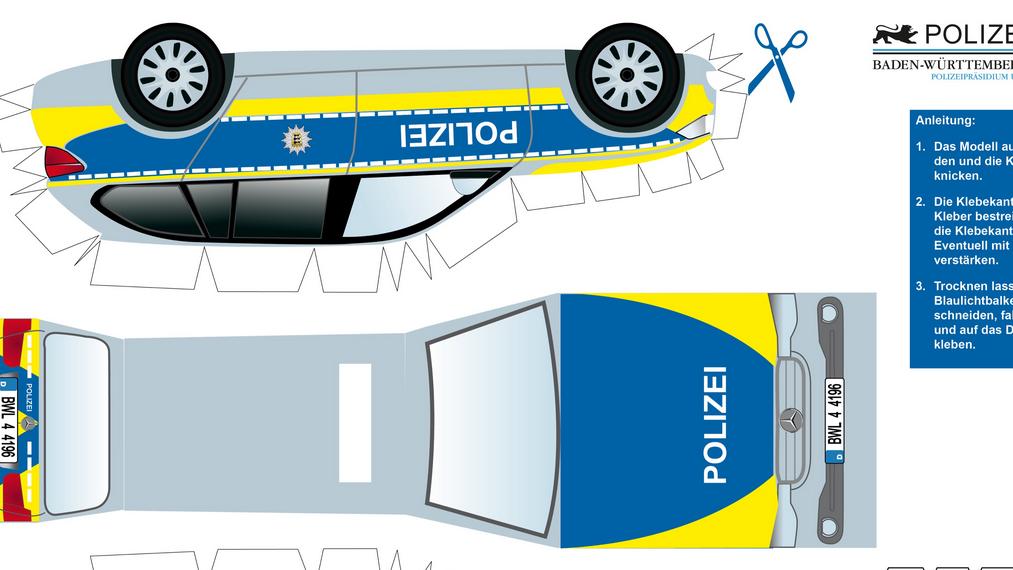Polizeiauto Zum Selberbasteln Unna