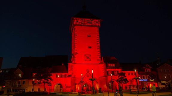 Night of Light in der Reutlinger Innenstadt