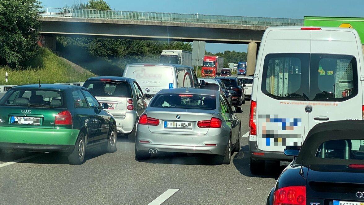 Autobahn A6 Stau