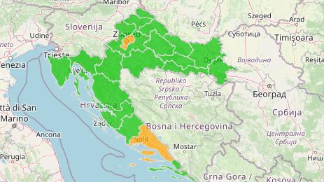 deutschland kroatien karte Corona in Kroatien aktuell: RKI streicht zwei Regionen in Kroatien