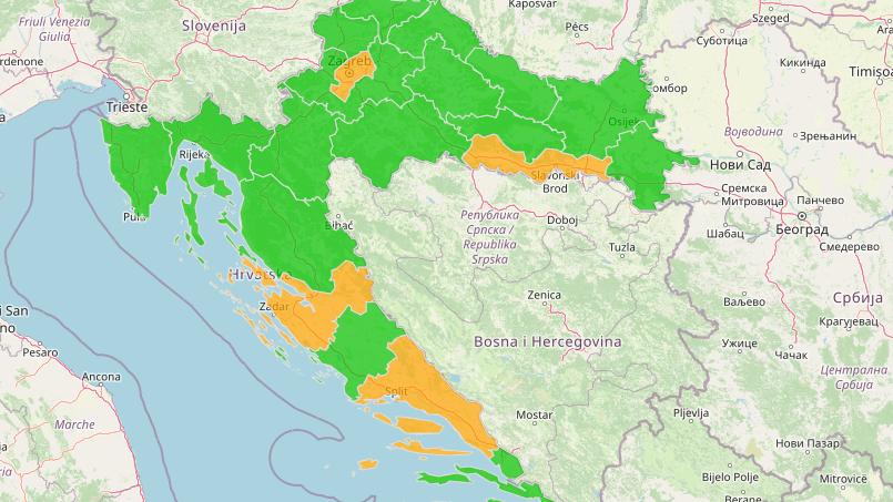 Corona Kroatien Karte