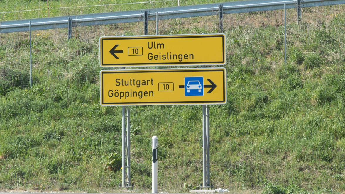 Stau B10 Stuttgart