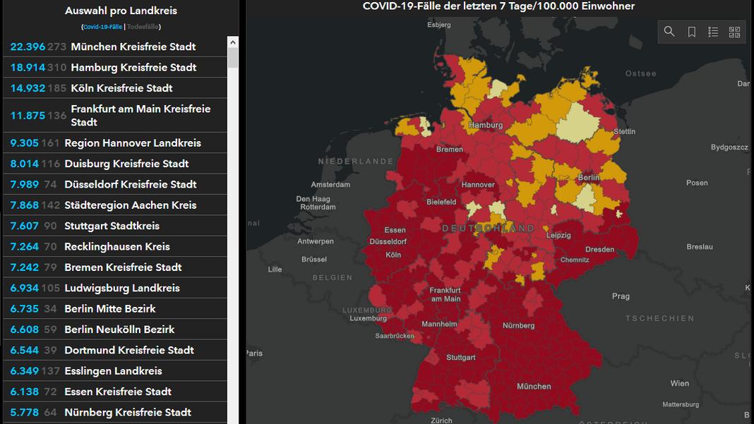 Corona Statistik Deutschland Karte