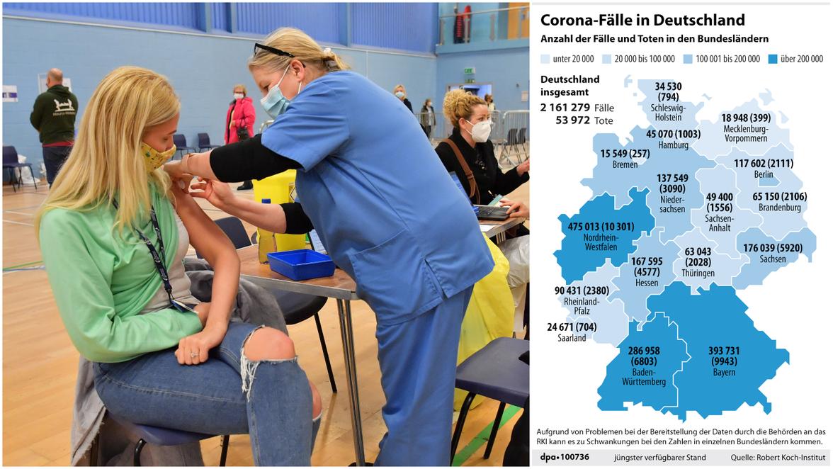 Corona Zahlen Deutschland Heute Neuste Rki Fallzahlen Neuinfektionen Inzidenz Und Co Am 27 1 21 Sudwest Presse Online
